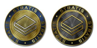 Cryptocurrency STRATIS coin Stock Photo