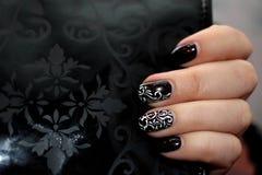 Original manicure on the original background Stock Images