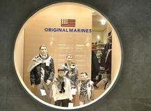 Original Marines winter luxury fashion shop in Italy Royalty Free Stock Images