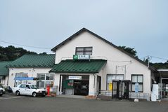 Original Matsushima train station Royalty Free Stock Photos