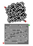 Original mazes design. Creative design of original mazes Stock Image