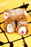 Original mini sicilian cannoli Royalty Free Stock Photo