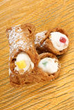 Original mini sicilian cannoli Stock Images
