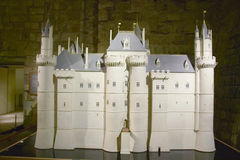 Original model of the Louvre building, Louvre Museum, Paris, France Stock Photo