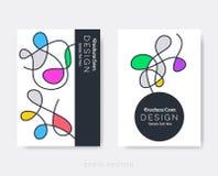 Original modern brochure design template Stock Image
