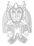 Original modern doodle fantasy monster personage Royalty Free Stock Photography