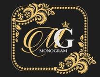 Vector art. Golden decorative frame. Elegant lines of calligraphic ornament. Heraldic symbols. vector illustration