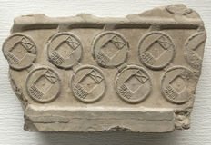 Original mould of old chinese coin (part) Royalty Free Stock Photo