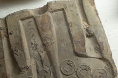 Original mould of old chinese coin (part) Royalty Free Stock Photos