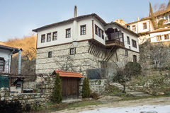 The original mountain architecture in Melnik, Bulgaria Stock Image