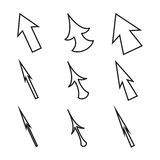 Original Mouse Cursors Icons Arrows Stock Photo