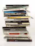 Original music albums on CD Stock Images