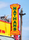 The original Nathan's Famous hot dogs stand in Coney Island Royalty Free Stock Images