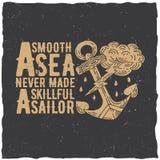 Original Nautical Poster Royalty Free Stock Image