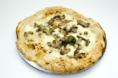 ORIGINAL NEAPOLITAN PIZZA. A juicy handcrafted original neapolitan pizza Royalty Free Stock Photography