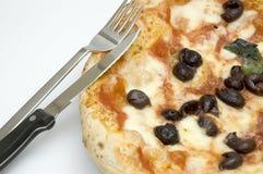 ORIGINAL NEAPOLITAN PIZZA. A juicy handcrafted original neapolitan pizza Stock Image