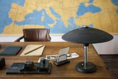 Original office from 1940` in central european style. Original retro office from early 1940` in central european style Royalty Free Stock Photos