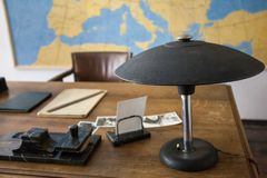 Original office from 1940` in central european style. Original retro office from early 1940` in central european style Royalty Free Stock Images