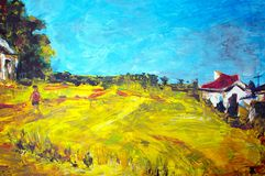 Original oil painting Stock Photography
