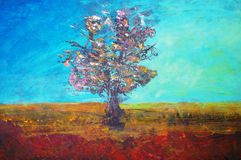 Original oil painting Royalty Free Stock Photography
