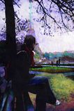 Original oil painting Royalty Free Stock Images