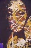 Original oil painting. An original oil painting of highly stylised image royalty free illustration
