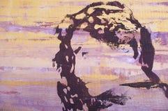 Original oil painting. An original oil painting of highly stylised image vector illustration