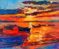Sunset over ocean Stock Image