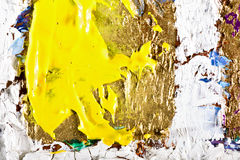 Original Oil Painting on canvas. Art abstract grunge golden background. Fragment of an original painting. Oil on canvas royalty free illustration