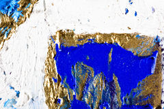 Original Oil Painting on canvas. Art abstract grunge golden background. Fragment of an original painting. Oil on canvas stock illustration