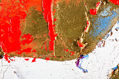 Original Oil Painting on canvas. Art abstract grunge golden background. Fragment of an original painting. Oil on canvas vector illustration