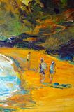 Original oil painting on canvas for giclee Stock Image