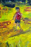 Original oil painting on canvas for giclee Royalty Free Stock Photo