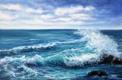 Ocean and waves Royalty Free Stock Photo