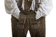 Original Oktoberfest Leather trousers (Lederhose) Royalty Free Stock Photo