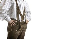 Original Oktoberfest Leather trousers (Lederhose) Stock Photo