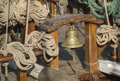 Original old ship bell Royalty Free Stock Images