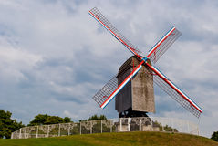 Original old windmill in Bruges, Belgium Royalty Free Stock Images