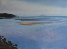 Original- olje- målning - Yule Point Arkivfoton