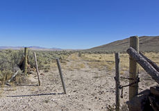 Original Oregon Trail Past Farm Gate Stock Photos