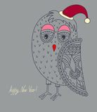 Original ornamental christmas owl, concept winter Royalty Free Stock Photos