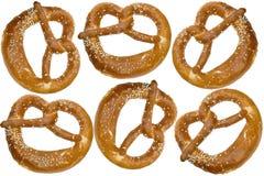 Original oven-fresh pretzels from bavaria germany Royalty Free Stock Image