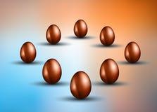 Original- påskdesignmall med det glansiga ägget 3D Arkivbild