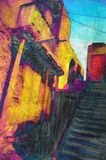 Original painting cairo egypt Stock Photo