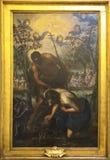 Domenico Tintoretto `Baptism of Christ`. Original painting of Domenico Tintoretto `Baptism of Crist Stock Photo