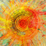 Original painting showing rotational motion Stock Images