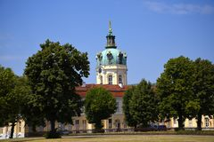 The Charlottenburg palace is the largest palace in Berlin. royalty free stock photos