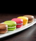 Original Paris Macaroons Stock Photo