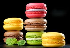Original Paris Macaroons Royalty Free Stock Photos