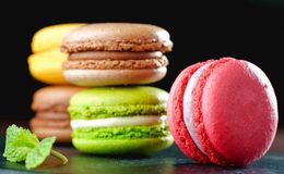 Original Paris Macaroons Royalty Free Stock Photo